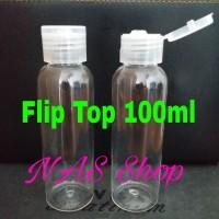 Botol 100ml / PET 100ml / Botol Flip Top Nat.