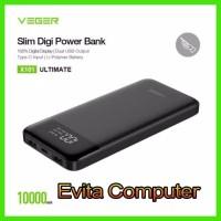 Powerbank Veger X101 Slim DIGI Ultimate 10000mAh Real Capacity