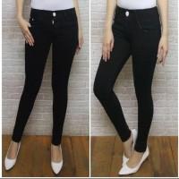 Celana jeans pensil wanita terbaru,premium ukuran 27-32 - Hitam, 29
