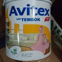 Cat tembok Avitex 5 kg ( galon ) warna AT-5 Lily White