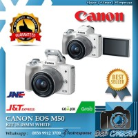 CANON EOS M50/EOS M50/CANON M50 KIT 15-45MM - GARANSI RESMI 1 TAHUN