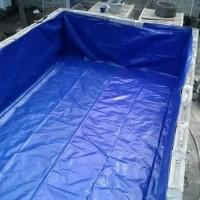 Terpal kolam semi karet pvc ukuran 100x100x50