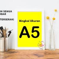 Hiasan Dinding Poster A5 + Bingkai (Bisa Pilih Semua Gambar Poster)