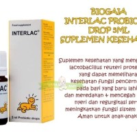 PERA153 BIOGAIA INTERLAC PROBIOTIC DROP 5ML SUPLEMEN MAKANAN