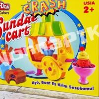 Fun Doh Ice Cream Sundae Cart Lilin Mainan FunDoh / PlayDoh / Play Doh