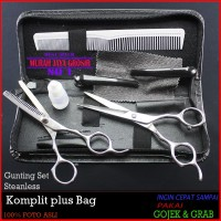 Set Gunting Rambut Salon Plus Dompet Bag Komplit Gunting Gunting sasak