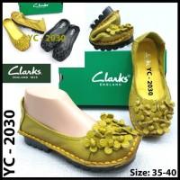 Sepatu wanita flat ori kulit sapi clarks 2030