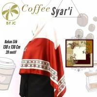 jilbab segi empat Coffee syari D18 By Jc