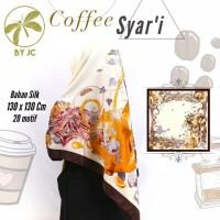 Jilbab segi empat Coffee Syar'i D17 By JC