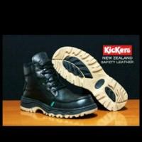 Sepatu kerja, santai Kickers boots safety ujung besi kulit tracking