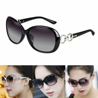 Kacamata (Design Korea) Wanita Model Bulat Besar Oversize Mewah