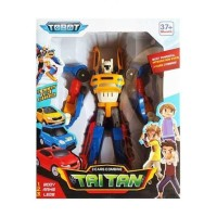 Tobot Tritan 3 cars combine, mainan robot transformasi