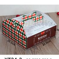 box kue 21 x 21 21x21 kotak kue lapis tart lebaran imlek natal cake