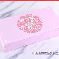 box imlek pink sakura kotak hampers bingkisan kado acara gift paper