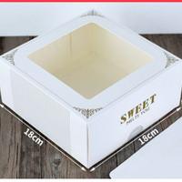 box kotak 18x18 tart bolu kue lapis imlek natal lebaran putih white