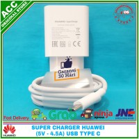 Charger Adaptor Huawei Super Charge P20 Pro Original 100% USB C 5A - Putih