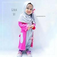Gisela Set - Baju Muslim Balita Model Cardigan 1-2thn