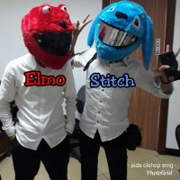 cover helm stitch elmo sarung helm karakter