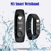 Smart Watch M3 Plus Jam Smartband SmartWatch Xiaomi Mi Band 3 - Hitam