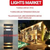 Lampu Dinding Taman Outdoor Pilar Minimalis Anti Karat Kotak - Rumah-Saja