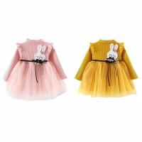 dress baby girl motif bu ny dengan rok tutu