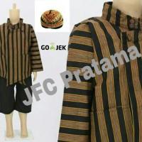 Baju Surjan Anak / Baju + Celana + Blangkon / XXXL Kemeja Lurik
