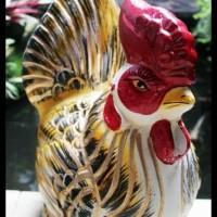 HOT SALE Celengan Gerabah Ayam Emas 48x33cm dari Tanah Liat Bakar