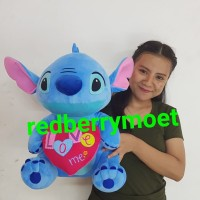 boneka stich LOVE stitch love xl 40 cm