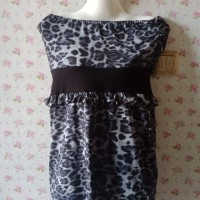 Kemben Party / Mini Dress /motif macan