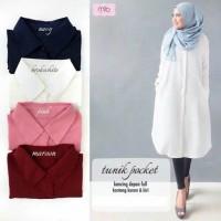 Baju Atasan Muslim Blouse Muslim SFS Tunik Pocket White Tasof BARU