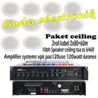 Paket Speaker Ceiling Toa Zs 646R Amplifier Systems Vpk Pas120use