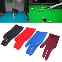 Sarung Tangan Biliar / 3 Finger Billiard Gloves / Fingers Gloves WARNA