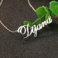 kalung nama monel stainless steel, silver