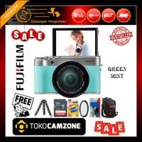 Fujifilm X-A10 / XA10 Kit 16-50mm f/3.5-5.6 OIS II Green - Paket Hemat