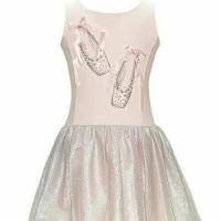 Dress Sepatu Balet Rok Tutu Glitter/Gaun Anak Import/Baju Balet Anak