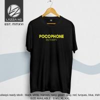 Kaos Tshirt Distro Gadget Pocophone BY Xiaomi Terlaris