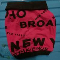 Broadway New York Letter T Shirt Kaos Baju Kemeja anjing doggy size S