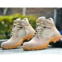Ready Stok Sepatu Boots Sepatu delta Pria safety pendek UJUNG ADA BESI