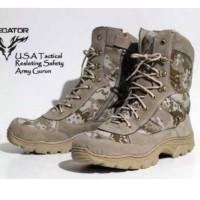 Ready Stok Sepatu Boots Sepatu boots pria safety ujung besi sepatu