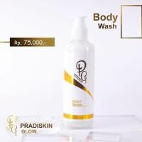 Pradiskin Glow Skincare Body Wash Pemutih Badan Premium Resmi BPOM