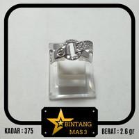 Cincin Emas Putih Model Cartong Double Sabuk Belt