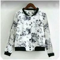 floral jacket bomber