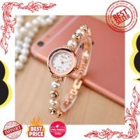 Jam Tangan Wanita Impor Penjualan Mawar Emas Gelang Mutiara Fashion