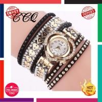 Jam Tangan Wanita Impor Ccq Merek Fashion Mewah Rhinestone Gelang