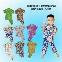 Baju Tidur - Piyama - Setelan anak karakter usia 6 bln - 5 thn