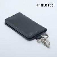 dompet stnk kulit asli - gantungan kunci mobil motor hitam PHKC163