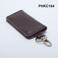 dompet stnk kulit asli - gantungan kunci mobil motor coklat PHKC164