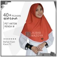 Jilbab Instan Pet Antem Renda M / Hijab Kaos Bergo Pet RENDA Size M