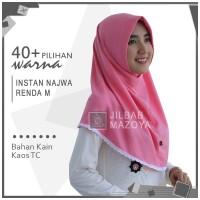 Jilbab Instan NAJWA RENDA M / Hijab Kaos Bergo NAJWA RENDA Size M