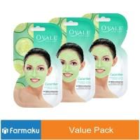 Value Pack Ovale Facial Mask Cucumber Sachet
